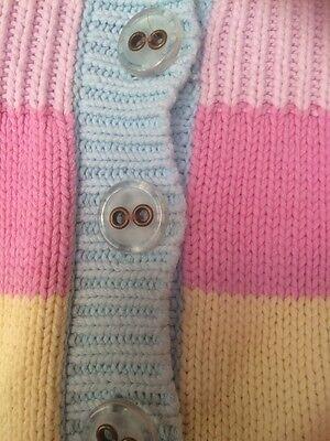 GAP Girls Knitted Stripe Coatigan Age 10-11 Yrs VGC 2