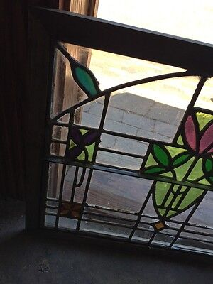Sg 782 Four Available Price Separate Antique Stainglass Windows 5