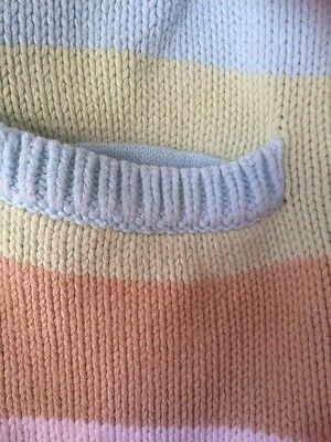 GAP Girls Knitted Stripe Coatigan Age 10-11 Yrs VGC 3