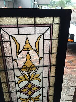 Sg 839 Antique Textured Glass Stained Transom Window 3