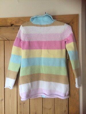 GAP Girls Knitted Stripe Coatigan Age 10-11 Yrs VGC 4