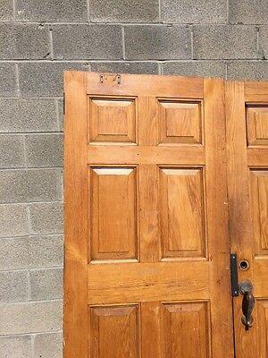 Cm 22 One Pair Antique Very Heavy Raise Panel Oak Entrance Doors 2