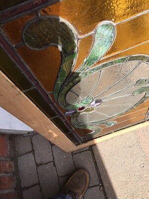 Sg 559 Antique Stainglass Victorian Window Schell Design 9