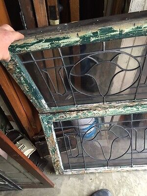 Sg 845 2 Available Price Separate Antique Leaded Glass Window 8