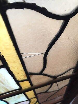 A.M. Six Antique Stainglass Landing Window Victorian 7