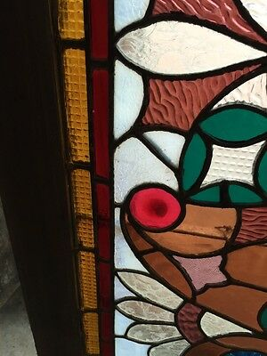 Sg 365 Amazing Pressed Jewel Turn-Of-The-Century Antique Stainglass Window