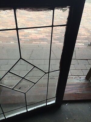 Sg 702 Antique Leaded Glass Window For Square Bevel Center 3