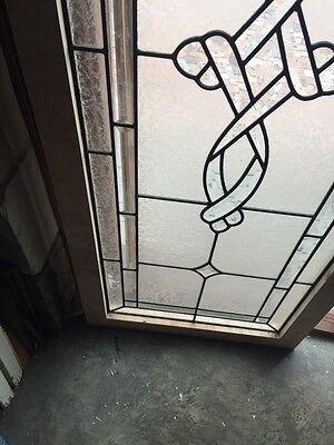 Sg 693 Antique Textured Glass Beveled Glass Window 6