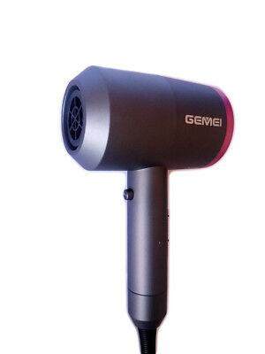 Asciugacapelli Phon Professionale 1400W Con Diffusore 2 Beccucci Gemei Gm137