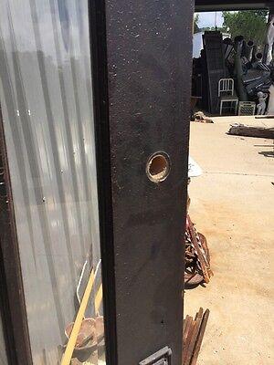 D 225 Antique Oak Painted Townhouse Entrance Door Beveled Glass 5