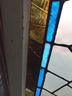 Sg 282 Jeweled Antique Eastlake Transom Stainglass Window 5