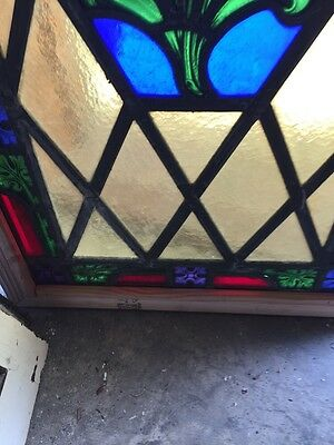 Sg 521 Antique Painted In Fired Calla Lily Floral Window 9