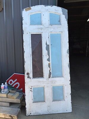 D 204 Antique Arch Top Galvanize Steel Entrance Door 5