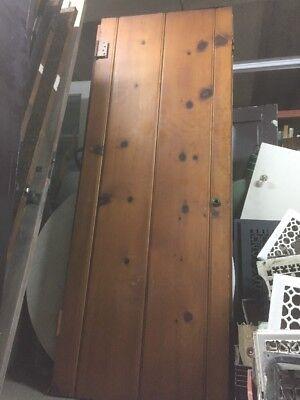 """Old 1920S Farmhouse Interior Door Old Spanish Style Beadboard 30""""x79-1/2"""""""