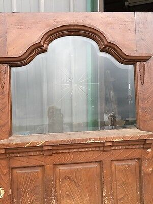 "Teen 53 Antique Victorian Entrance Door Double Glass Wheel Cut Center 40 3/4"" 2"