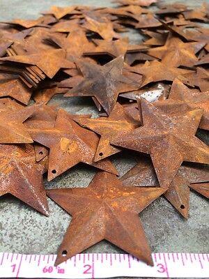 "50 Dimensional Rusty Barn Stars 2.25 in 2 1/4"" Primitive Metal Rust 57mm Craft * 10"