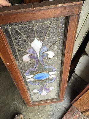 """Sg 759 Antique Transom Window 16.25"""" X 40.25"""" 5"""