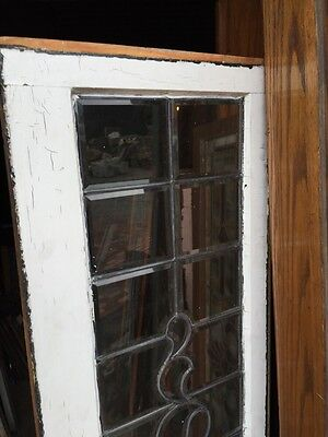 "Sg 833 Super Antique All Beveled Glass Transom Window 17.5"" X 64.5"""