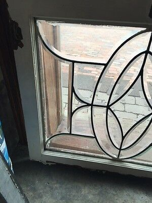 """Sg 630 And Take All Beveled Glass Window 28.5"""" X 24 And Three-Quarter Inch 2"""