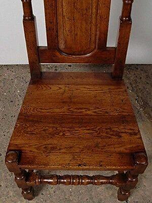 Set 8 English Elizabethan Tudor Oak Dining Chairs Chair 7