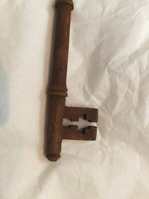 Old Vintage Antique Door Key Small Thin Unusual Georgian 11.7Cm 2