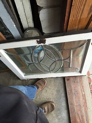 """Sg 630 And Take All Beveled Glass Window 28.5"""" X 24 And Three-Quarter Inch 5"""