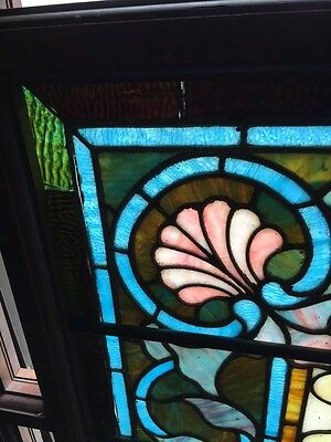 Antique Painters Palette Stainglass Window With Many Jewels 4
