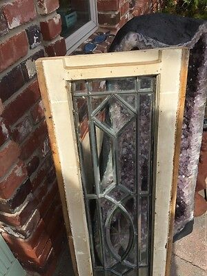 Sg 870 Antique All Beveled Glass Transom Window 8