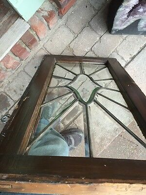 Sg 842 Antique All Beveled Glass Transom 16 X 31 6