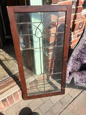 "Sg 821 Antique Leaded Glass Window 22"" X 43.5"" 4"