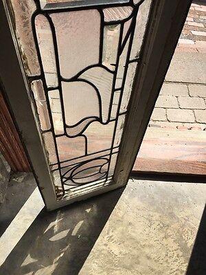 Sg 732 Antique Transom Glass Window 5