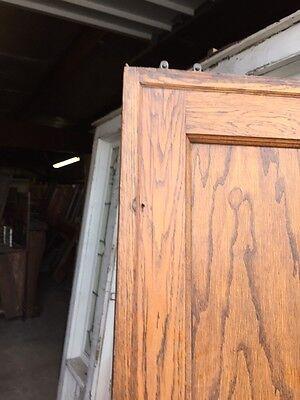 Cm 49 Antique Oak Two Panel Pocket Door 2
