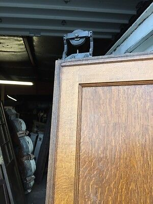 Cm 49 Antique Oak Two Panel Pocket Door 11