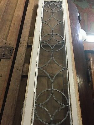 "Leaded Glass Window Transom 13""x71"""