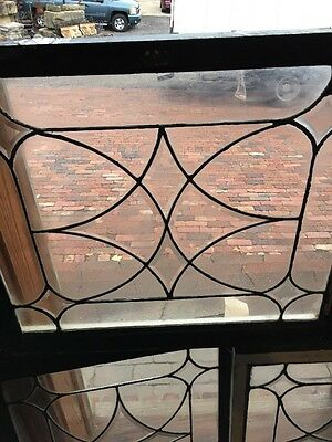 Sg 724 Antique Four Point Beveled And Leaded Window Price Each Three Available 2