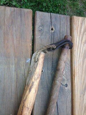 1800s Antique Vtg Old Wood Flail Farm Threshing Tool Origin of Karate Nunchuck Z 2