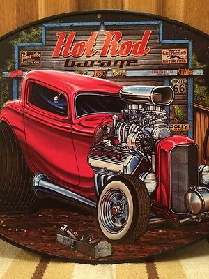 Hot Rod Garage Metal Decor Gas Pump Coupe Rat Rod Oil Bar Industrial Ford Chevy 3