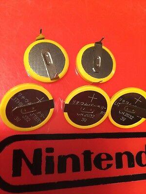 10x CR2032 Save Batteries N64 SNES NES Super Nintendo Sega Battery Lot Mario Ten