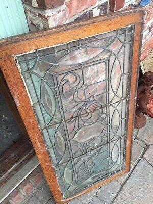 "Sg 749 Antique Transom Window 22"" X 42.25"" Beautiful 9"