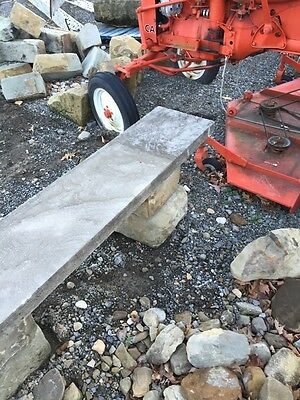 Antique Five Piece Stacked Stone Garden Bench 5