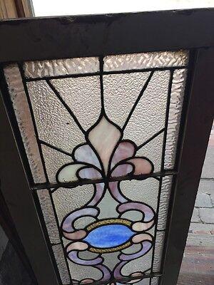 """Sg 759 Antique Transom Window 16.25"""" X 40.25"""" 2"""