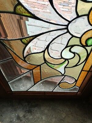 Sg 308 Two Available Price Each Antique Stained And Double Glass Transom Windows 4