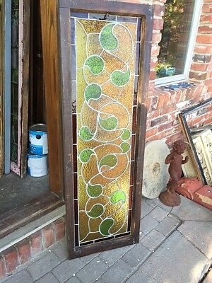 Sg 382 Antique Stainglass Window Green Waves 7
