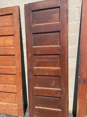 "Set Of Nine Antique Oak Passage Doors 28"" X 83.5"""