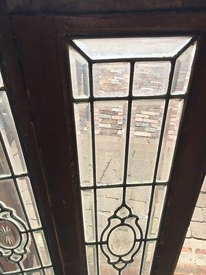 Sg 817 Two Available Price Each Beveled Glass Window With Crack