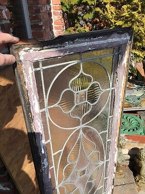 Sg 578 Antique Victorian Style Transom Glass Window 5