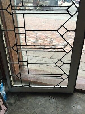 Sg 349 Antique Arts And Craft Beveled Arrows Transom Window