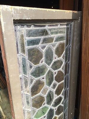 Sg 813 Two Available Priced Separate Antique Stainglass Transom Window 6