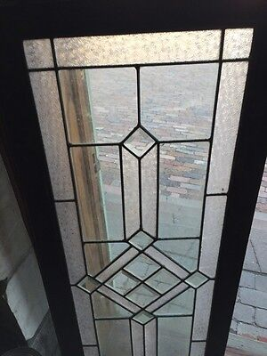 Sg 620 Antique Textured And Beveled Glass Transom Window 2