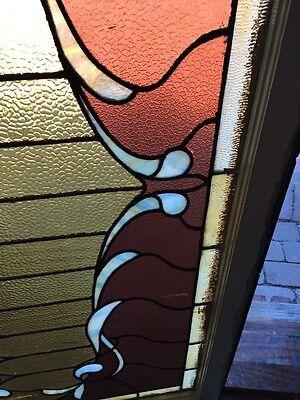 Sg 505 Antique Curtain Stainglass Window 5